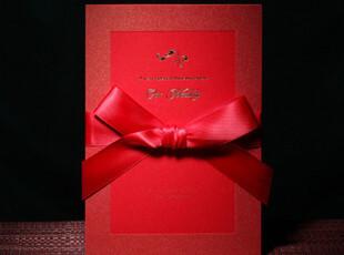 CW0048高档请帖对折式结婚喜帖韩式婚礼请柬红色西式欧式个性定制,婚庆,