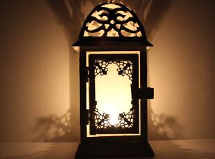 欧式地中海田园风格白色窗花铁艺风灯烛台 婚庆生日礼物 新居装饰,婚庆,