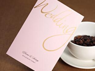 婚礼请帖定制婚庆请柬喜帖创意韩国粉色个性结婚喜贴请贴W1148,婚庆,