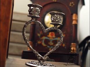 外贸 欧式复古烛台-爱之花 结婚礼物 七夕情人节礼物,婚庆,