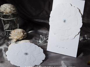创意新品2012白色结婚请帖/婚礼用品/个性请柬/喜帖请贴定制W1103,婚庆,