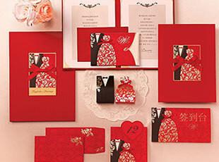 红色系婚礼签到本签到册个性欧式嘉宾签到簿结婚礼金本婚庆礼簿,婚庆,