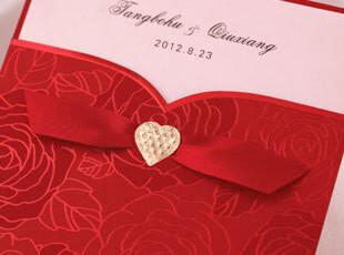 高档婚礼请柬\红色韩版韩式结婚喜帖婚庆用品\晚会开业邀请函定制,婚庆,