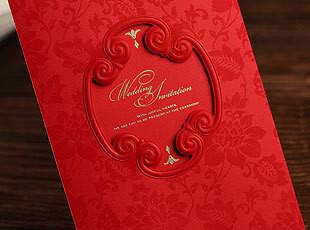 喜帖结婚请柬创意2012邀请卡中式请帖个性喜贴定制创意婚礼CW1033,婚庆,