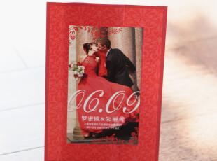 中式照片请柬/婚礼用品红色结婚喜帖/创意2012个性请帖定制BHP03,婚庆,