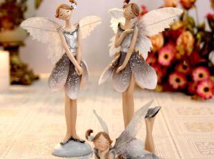 树脂工艺品人物新婚礼品家居饰品结婚礼物田园可爱天使花仙子摆件,婚庆,