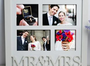 天生一对MR&MRS影楼结婚多用木质创意礼物相框组合像架 壁挂 墙饰,婚庆,