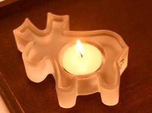柔软时光 圣诞系列驯鹿磨砂烛台蜡烛杯 玻璃 婚庆装饰 礼品,婚庆,
