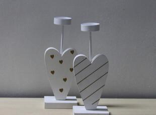 清仓超浪漫欧式 烛台挂式木制烛台婚礼婚庆装饰道具 爱的箴言白色,婚庆,