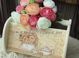 咏琳 欧式木质手绘花朵收纳盒 家居摆件 结婚乔迁礼物,婚庆,