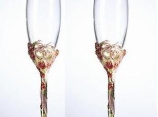 专柜正品【罗比罗丹】珐琅彩 天长地久婚礼香槟杯R-7652J1婚庆,婚庆,