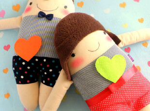 结婚礼物 原创牵手一生情侣娃娃 压床娃娃一对新婚礼物婚庆礼品,婚庆,