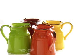 欧式乡村西班牙色彩花瓶 欧式陶瓷简约客厅花瓶结婚礼物 大号4色,婚庆,
