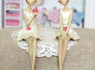 田园宜家创意家居装饰品新款花仙子卡通树脂娃娃工艺摆件婚庆礼品,婚庆,