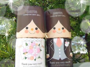 国内现货日本制造结婚婚礼娃娃一对卫生纸卷筒纸套装伴手礼小礼物,婚庆,