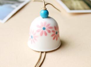 手工陶瓷 樱花风铃 送女友 创意铃铛 婚庆礼品 生日礼物,婚庆,
