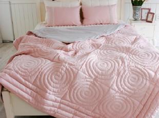 韩国进口代购 名牌衍缝粉色婚庆床上用品四件套,婚庆,