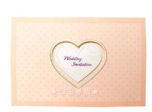 ●公主梦想●韩国●梦幻婚礼用品定制韩国产结婚请柬卡片 CH-5001,婚庆,