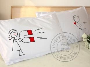 吸引力双人枕套情侣枕头套对枕套 结婚礼物泰国HUMAN TOUCH正品,婚庆,