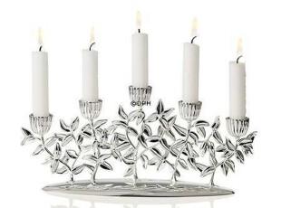 正品 丹麦Rosendahl 镀银五棵树古典烛台 31260欧式蜡烛台婚庆,婚庆,