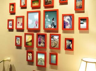 麦秋 结婚礼物 实木照片墙 相框组合 相框墙 心形照片墙,婚庆,