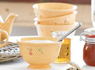 外贸彩绘ZAKKA杂货甜美结婚送礼物汤面搅拌沙拉浮雕蜜蜂高脚碗,婚庆,