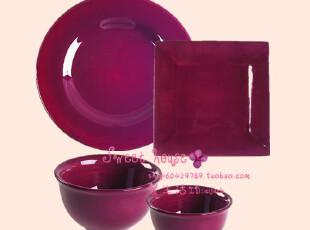 省内包邮CORSICA外贸瓷器欧美碗杯盘碟结婚礼物纯色中西餐具套装,婚庆,