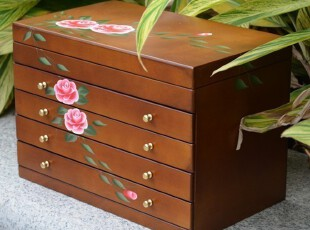 欧式公主胡桃木首饰盒木质实木制珠宝盒饰品盒复古化妆盒生日结婚,婚庆,