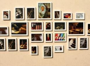 菱形客厅大幅小斜边28框照片墙 宜家组合相框 时尚现代结婚礼物,婚庆,
