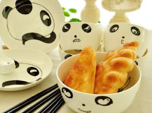 全国包邮. lovely panda骨瓷餐具套装15件.礼盒装.乔迁结婚礼物,婚庆,