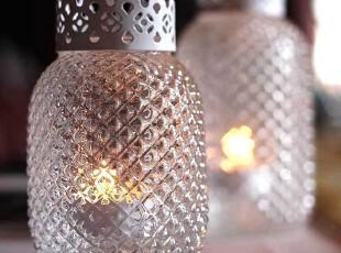 柔软时光 欧式水晶菠萝烛台 餐桌玻璃烛台摆件 浪漫婚庆婚礼用品,婚庆,