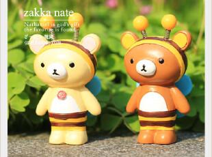 zakka 卡通树脂摆件 轻松熊 小蜜蜂款 情侣对偶 生日礼物婚庆用品,婚庆,