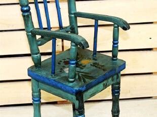 手工彩绘原木做旧 芭比娃娃拍摄道具 结婚礼物时尚装饰摆件儿童椅,婚庆,