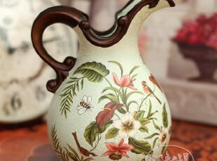 秒杀【7折包邮】欧式华美宫廷 陶瓷花瓶 时尚客厅花瓶 结婚礼物,婚庆,