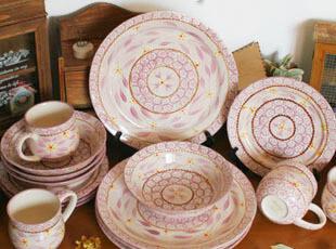 temp-tations 外贸手绘陶瓷 餐具套装 16件 杯盘碗碟 结婚礼物,婚庆,