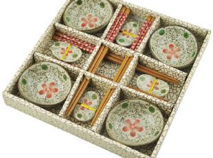 didalife 喜上眉梢 日式竹筷子陶瓷碟子礼盒餐具套装乔迁结婚礼物,婚庆,