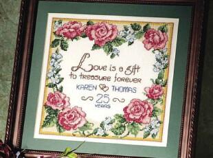 三皇冠|法国DMC十字绣正品|套件|HD5641C-结婚纪念,婚庆,