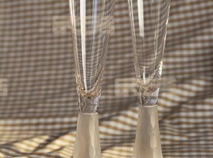 出口原单手工透明磨刻鱼鳞水晶玻璃香槟杯红酒杯套装 婚庆酒具,婚庆,