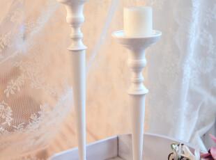 铁艺白色烛台婚庆西餐装饰品摆设高矮可选922A/B,婚庆,