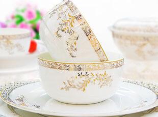 全国包邮-56头景德镇高档骨瓷餐具套装 结婚送礼 天湖 碗盘韩式,婚庆,