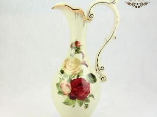 热卖欧式陶瓷金边花瓶花器 家居装饰品摆件 结婚礼品英伦玫瑰3054,婚庆,