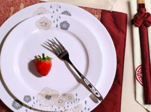 48%骨粉 婚庆送礼景德镇陶瓷器56头骨瓷餐具套装 一帘幽梦 碗盘碟,婚庆,