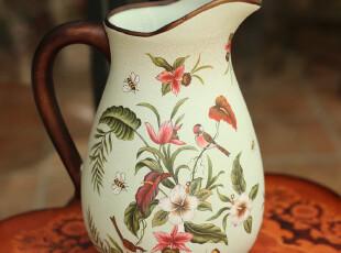 特价【5折】欧式华彩陶瓷花瓶 客厅落地时尚花瓶 结婚礼物,婚庆,