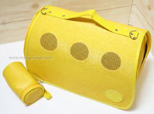 韩国代购 韩版时尚宠物移动包 可爱狗狗猫咪移动拎包质量好 2色入,宠物用品,