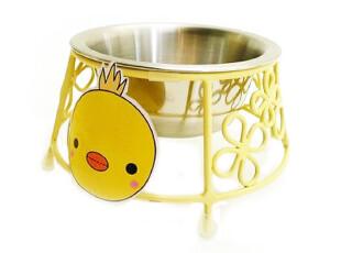 日本原单宠物用品,新版LISA@黄小鸡爱立体式凌空餐具架(含碗),宠物用品,