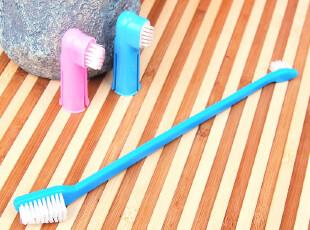 狗狗牙刷三件套装 宠物牙刷 牙好胃口好 吃嘛嘛香 蓝粉2色随机发,宠物用品,
