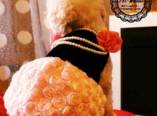 新品!日本PETCO 订制の立体玫瑰礼服 宠物婚纱礼服狗狗衣服裙子,宠物用品,