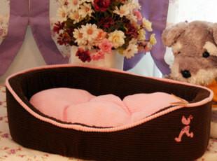 咖啡海棉狗窝 小型犬保暖冬季狗床宠物窝 大号猫床猫窝猫屋,宠物用品,