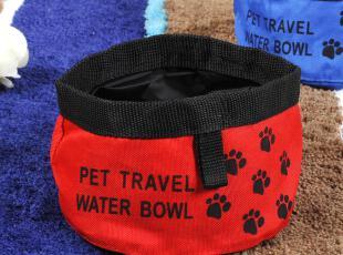 时尚折叠狗狗碗狗食盆饮水器两个尺寸 宠物外出便携式水碗狗粮碗b,宠物用品,