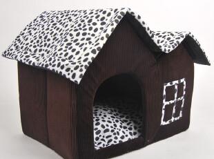 狗窝 包邮 奶牛双房双顶 55*40豪华高档中号 宠物房子屋子 猫窝,宠物用品,